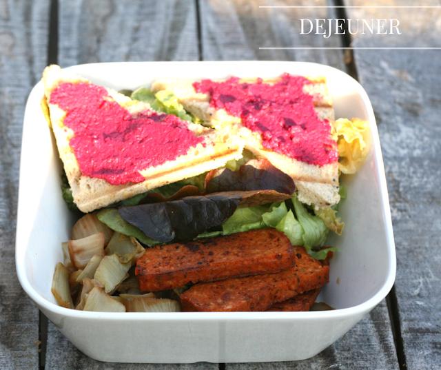 Dejeuner végétalien midi vegan