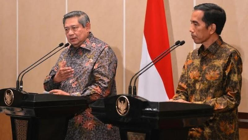 SBY dan Jokowi saat bertemu di Istana