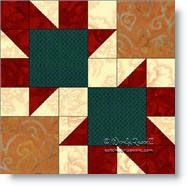 'Arrows' quilt block image © W. Russell, patchworksquare.com