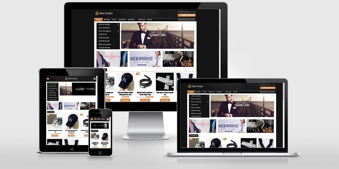 Theme WordPress bán hàng thời trang nam đã Việt hóa