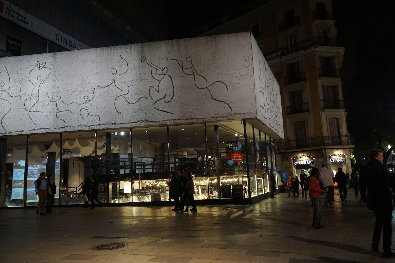 カタルーニャ建築家協会(ピカソの壁画)