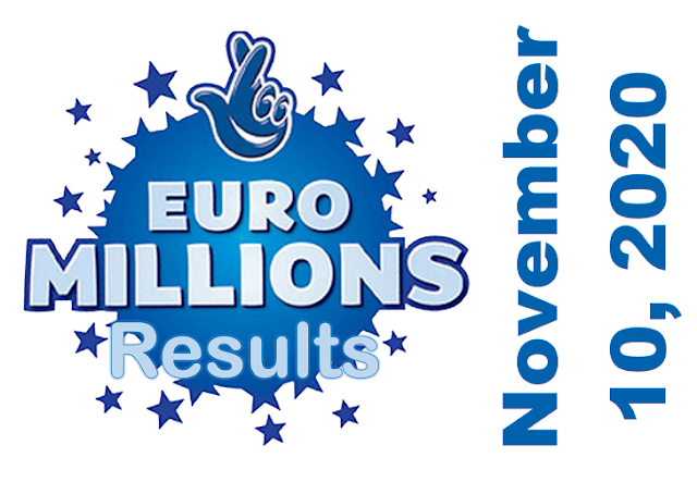 EuroMillions Results for Tuesday, November 10, 2020