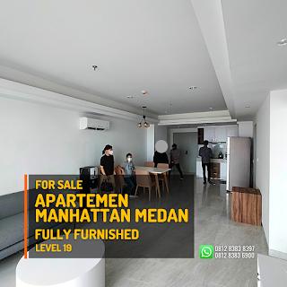 Ruang Tamu Unit Apartemen Murah Fully Furnished - Tinggal Bawa Koper - The Manhattan Condominium dan Apartemen Ring Road Medan