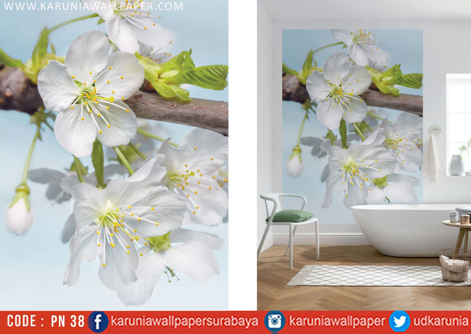 jual photowall bunga