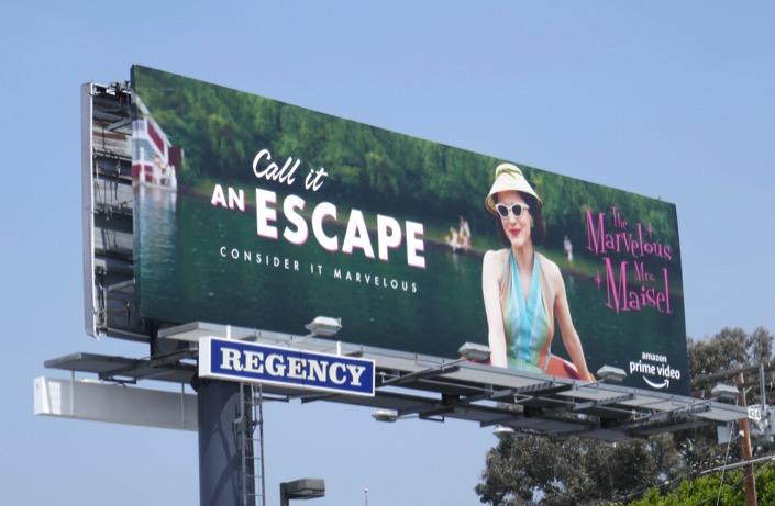 Mrs Maisel Call it an Escape season 2 Emmy FYC billboard