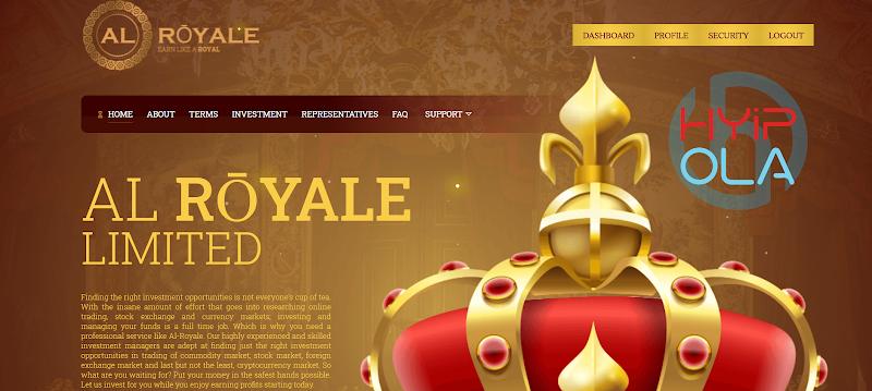 [SCAM] Review AL Royale - Đầu tư thu lãi từ 0.2% hằng giờ mãi mãi [4.8% hằng ngày]