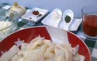Calamares en salsa picante.