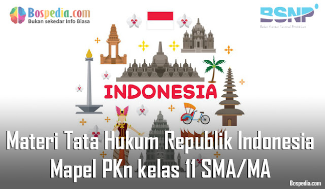 Materi Tata Hukum Republik Indonesia Mapel PKn kelas 11 SMA/MA
