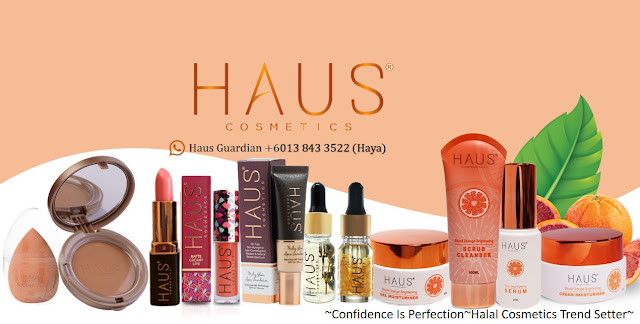 APA ITU HAUS COSMETICS?  .  Haus Cosmetics adalah satu jenama yang bersaing dalam industri kecantikan dan kesihatan khususnya di Malaysia bagi menawarkan variasi produk kosmetik Halal dan selamat bertaraf antarabangsa dengan harga mampu milik.  .  Di kilangkan di Malaysia dan pemilik kilang merupakan founder kepada Haus Cosmetics. 100% Produk Muslim 100% Produk halal.    PRODUK HAUS COMSETICS ADA BERAPA?    Crystal Shine Magic Lipstick Melty Glam Aqua Foundation 15ml & 10ml Matte Creamy Lips (Lipmatte) Matte Velvet Compact Powder (MVCP) Luminous Lush Lipcream     PRODUK HAUS SKIN ADA BERAPA JENIS?  Blood Orange Brightening Scrub Cleanser Blood Orange Brightening Serum Blood Orange Brightening Cream Moisturiser Blood Orange Brightening Gel Moisturiser Super Sensitive Beauty Soap Silky Intense Oil Serum - Calendula Silky Intense Oil Serum- Lavender