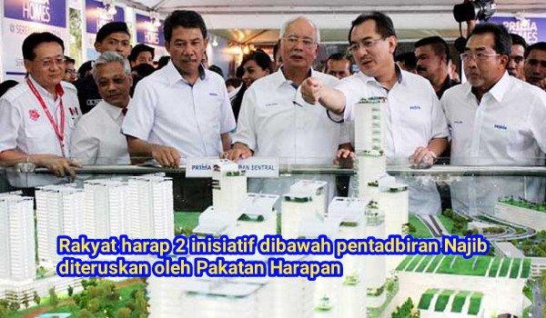 Rakyat harap 2 inisiatif dibawah pentadbiran Najib diteruskan oleh Pakatan Harapan