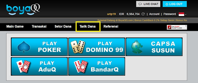 Cara Poker Online Withdraw Di Server V