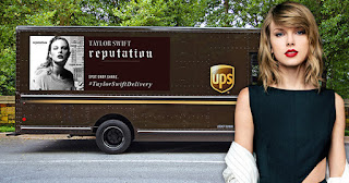 UPS Truck with Taylor Swift's album