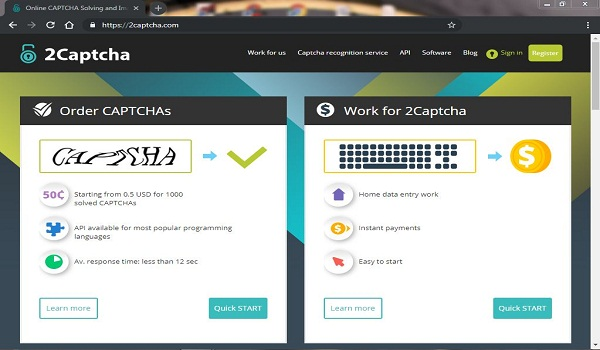 Earn money from 2captcha - THE WEB INDUSTRY