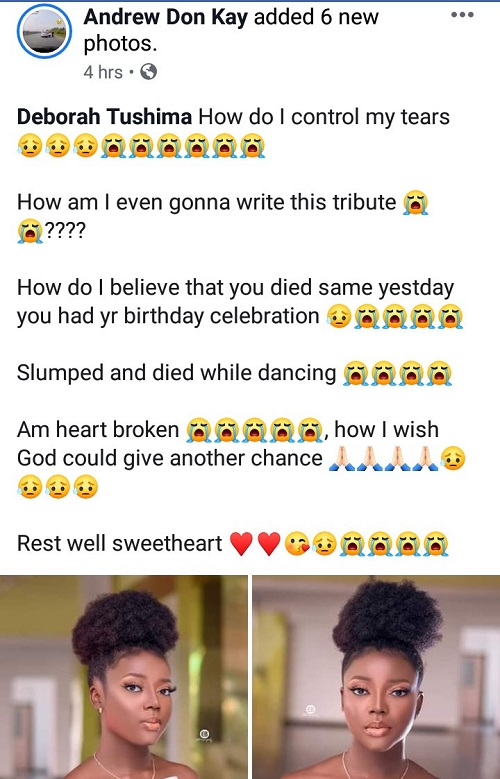 d3 - Make-up artist collapses and dies whereas dancing at her celebration in Jos (photographs)