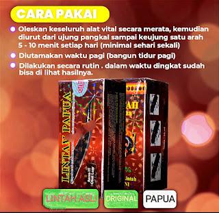 cara dan aturan pakai penggunaan minyak lintah merah papua