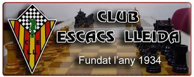 Cabecera de la página web del Club de Ajedrez Lleida