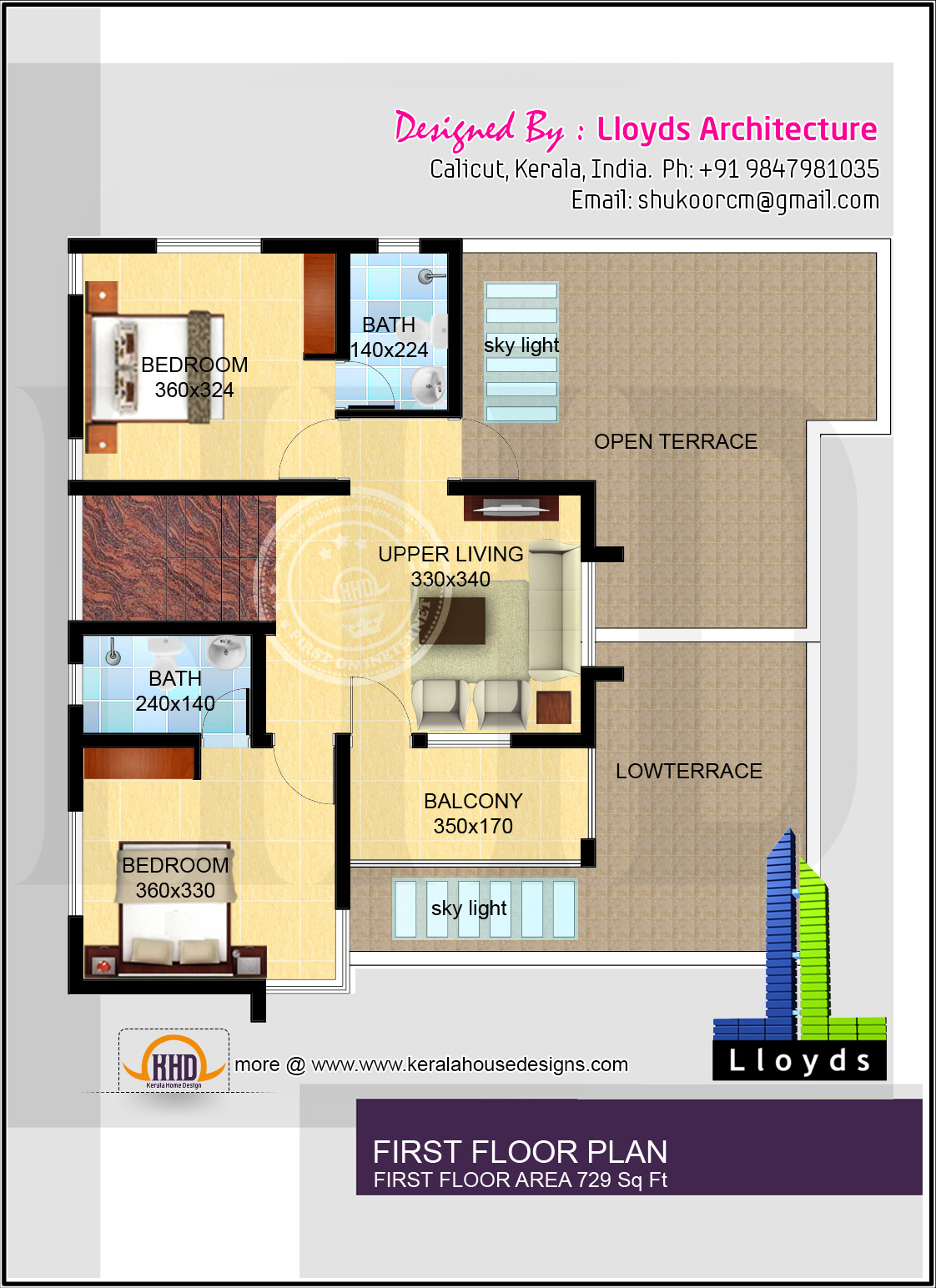 1878 free floor plan and elevation kerala home for Kerala 3d home floor plans