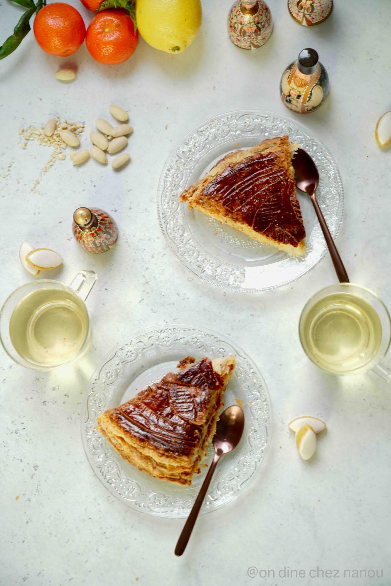 frangipane , agrumes , recette facile , pâte feuilletée inversée