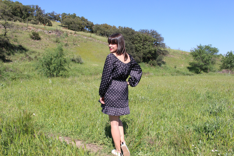 Vestido lunares mini