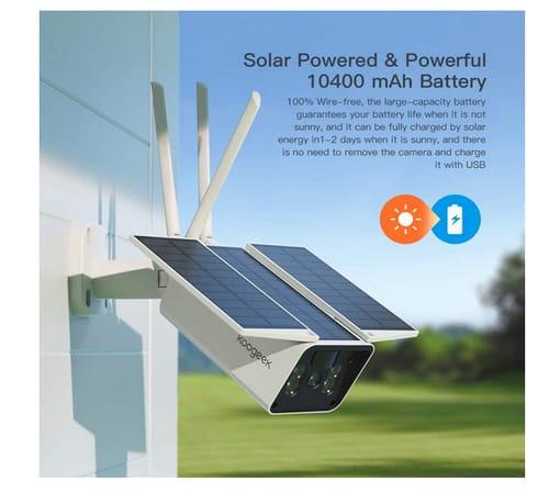 Koogeek Night Vision Solar Security Camera