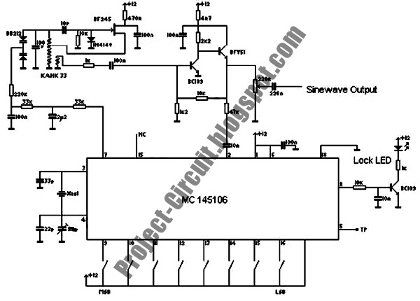 controlled sine wave oscillator circuit diagram