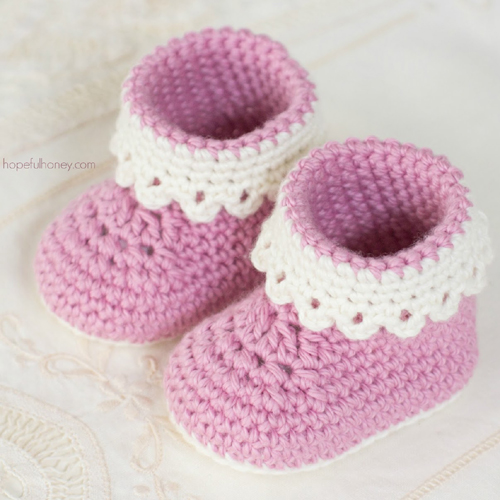 Pink Lady Baby Booties - Free Pattern