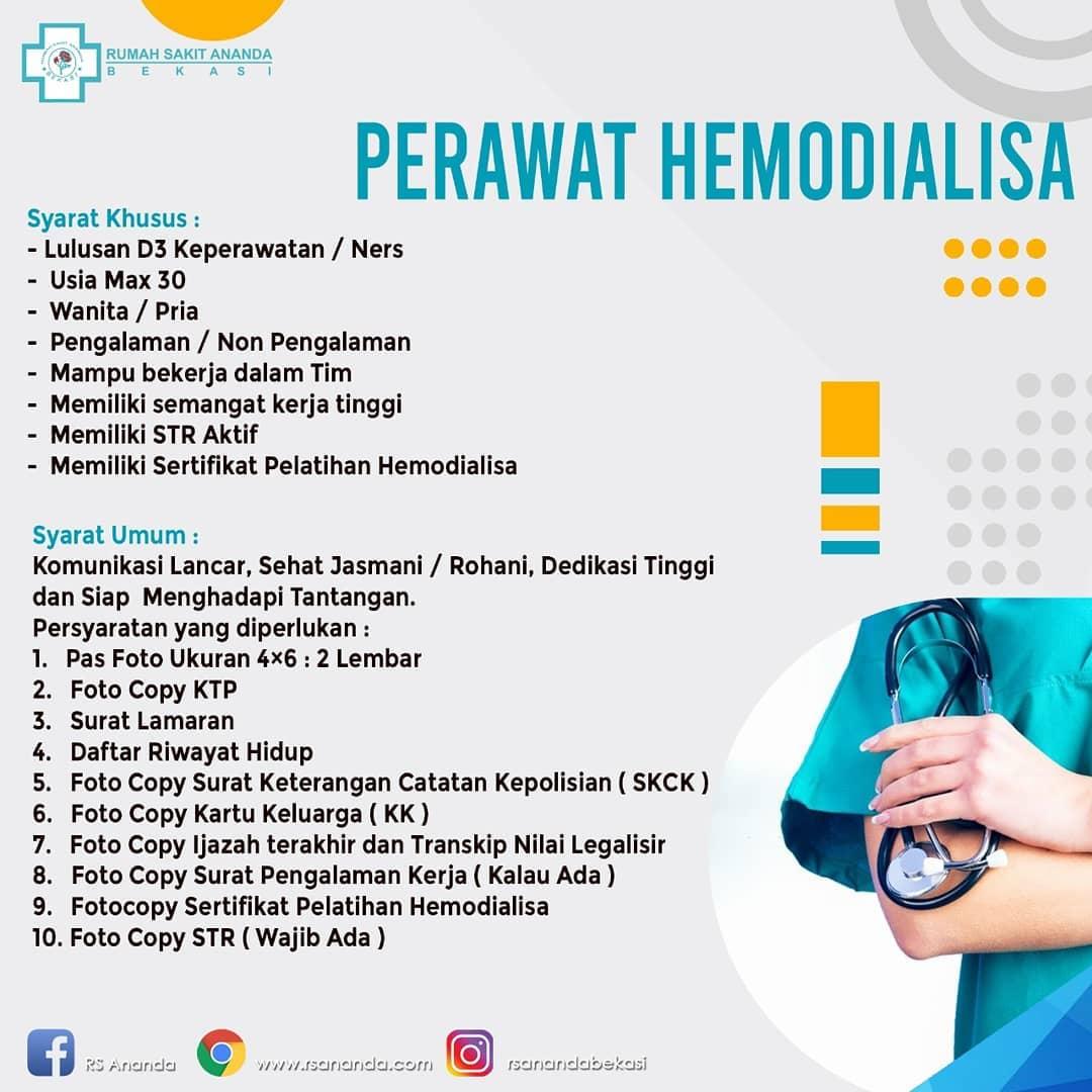 loker perawat hemodialisa rs ananda bekasi