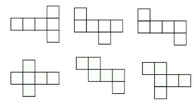 Contoh Gambar Jaring-Jaring Kubus