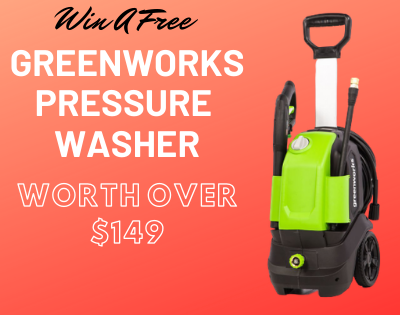 Enter To Win New Greenworks Pressure Washer ( Worth Over : $149.99)