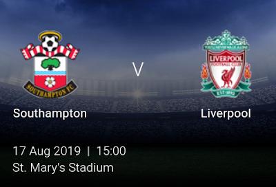 LIVE MATCH: Southampton Vs Liverpool Premier League 17/08/2019