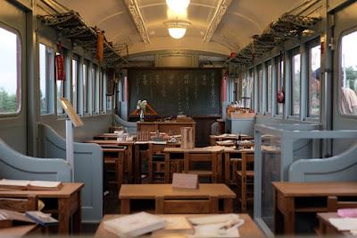 安曇野ちひろ美術館 トットちゃん広場 電車の教室