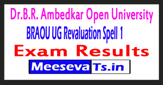 Dr.B.R. Ambedkar Open University UG Revaluation Spell 1 Results 2017