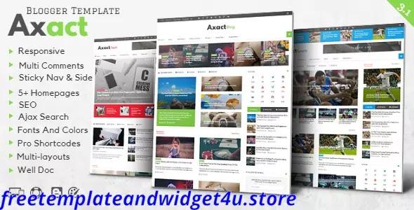 Axact - Responsive Magazine Blogger Theme Free Download