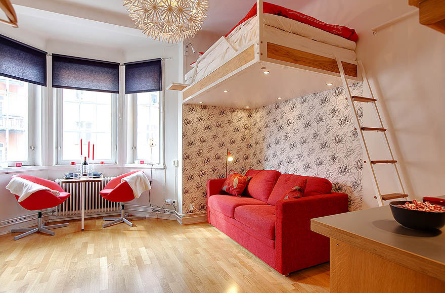 Furniture Interior View Space Saving Designs For Small: Beautiful Abodes: The Studio Apartment That Reaches For