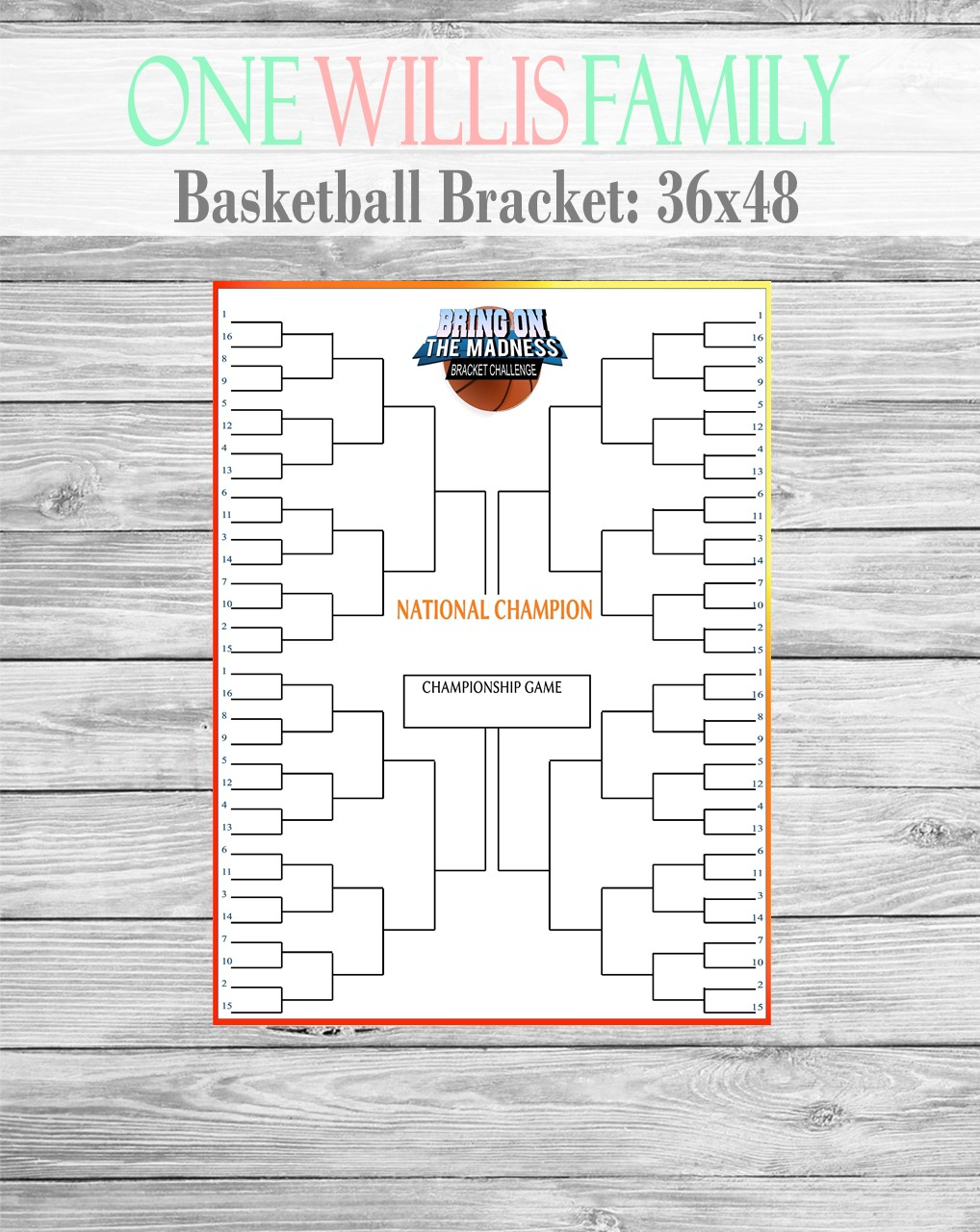 one willis family  basketball fun printables and bracket generator