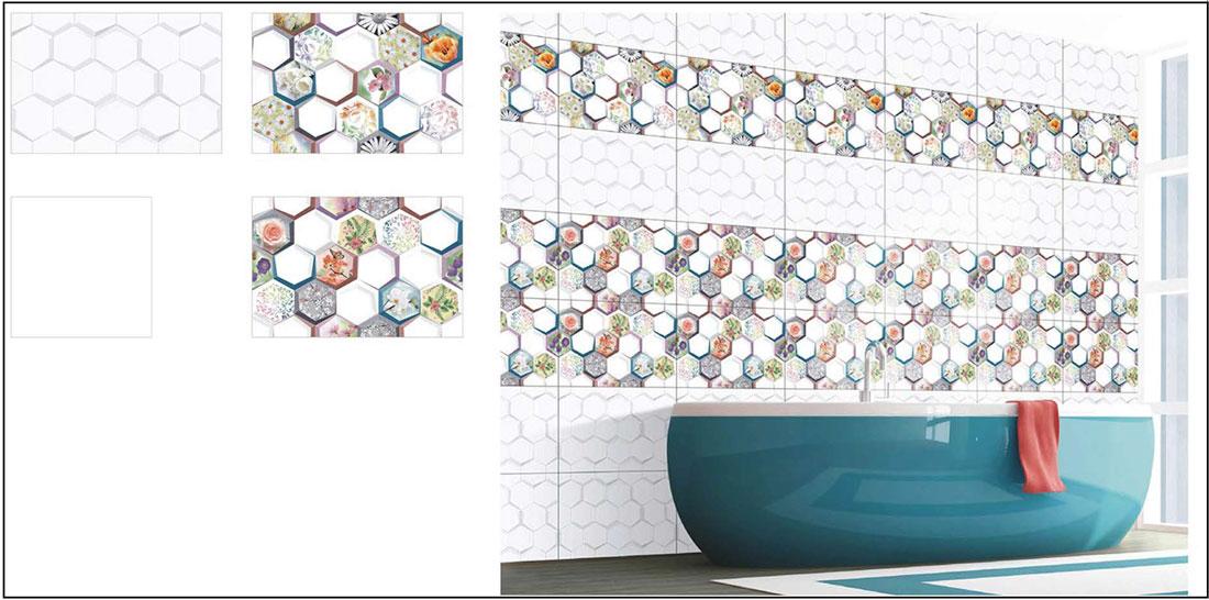 Penny tile bathroom