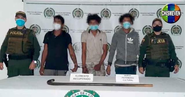 Tres venezolanos capturados por robar estatuas de Botero en Medellín