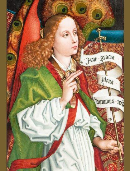 Schongauer Annunciation angel CC1184 Orlier altar Postcard