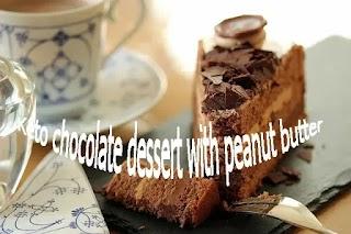 Keto chocolate dessert with peanut butter