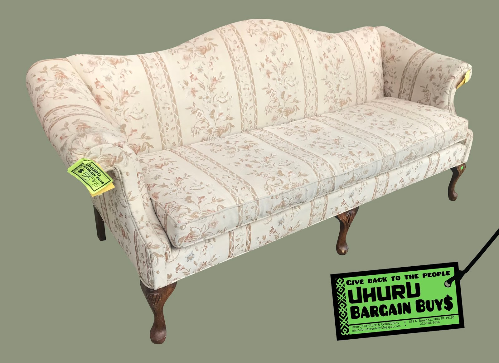 Sofa Queen Anne Uhuru Furniture Collectibles Queen Anne Sofa 35 Sold