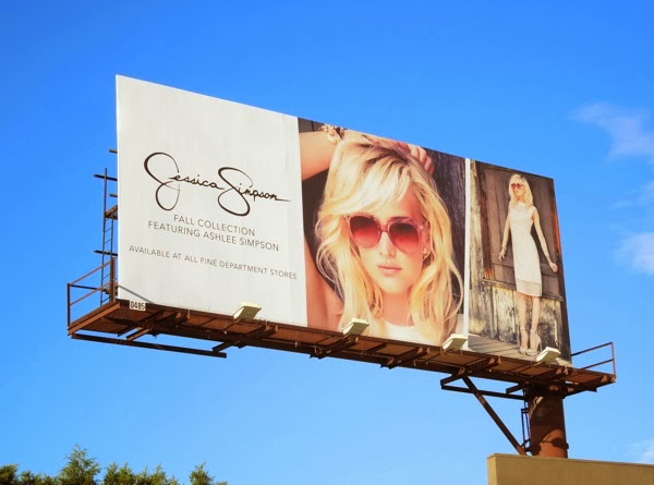 Ashlee for Jessica Simpson Fall 13 billboard