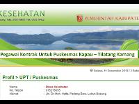 Dibutuhkan D3 Kesling, D3 Promkes dan D3 Akutansi PTT/Tenaga kontrak Puskesmas Kapau (Gaji 2,5 Jt)