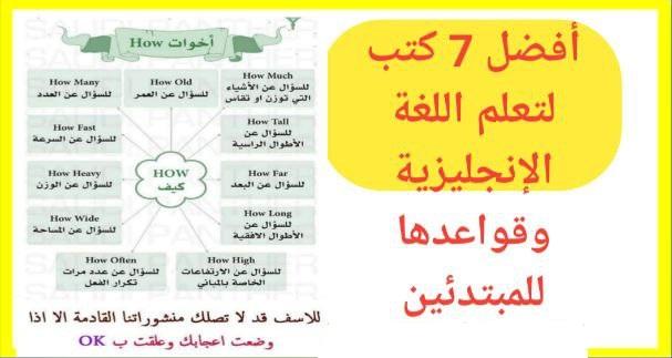 تحميل PDF: أفضل 7 كتب لتعلم اللغة الإنجليزية وقواعدها للمبتدئين مع الشرح بالعربية