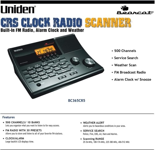 Uniden BC365CRS 500 Channel Scanner
