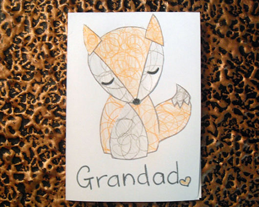 Free Printable: The Quiet Fox Card Art