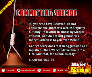 MAJOR SIN. 29. COMMITTING SUICIDE