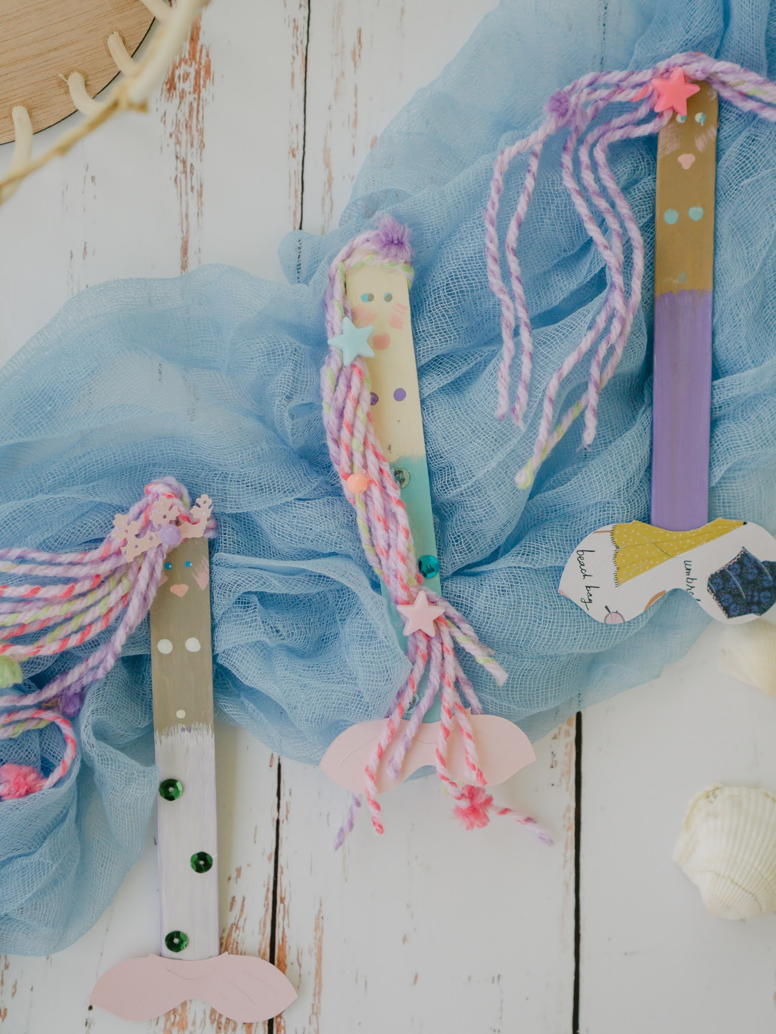 mermaid summertime craft projects