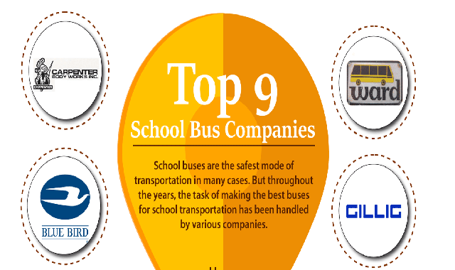 Top 9 School Bus Companies You Need to Know #infographic