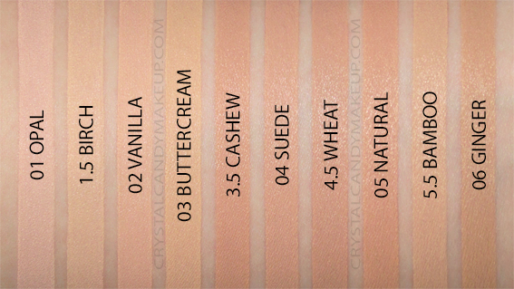 Fond teint hydratant stick Complexion Rescue bareMinerals Swatches