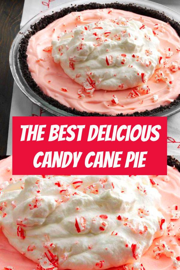 The Best Candy Cane Pie Recipe | When my college roommate first made this pie, I couldn't get enough! Using a store-bought crust helps save time when you're in the midst of the holidays. #pie #candypie #pierecipe #candycanepie